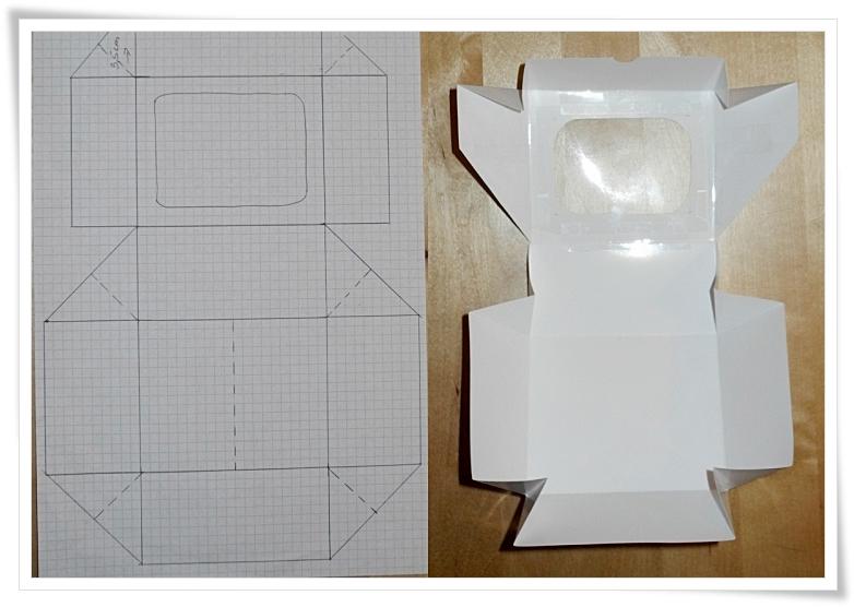 Brief Falten A4 Word : Diy macaroon box mit sichtfenster kuchenkrümel