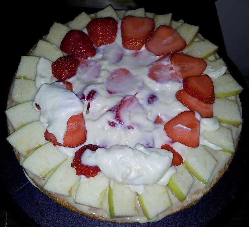 Hohe Obst Pudding Torte Kuchenkrumel