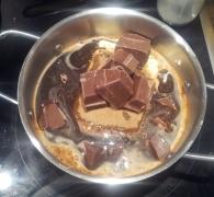 """""""Teig"""" für den Schokoladenkuchen"""
