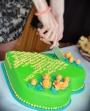Jugendweihe Torte mit Rosen und Icing Gedicht