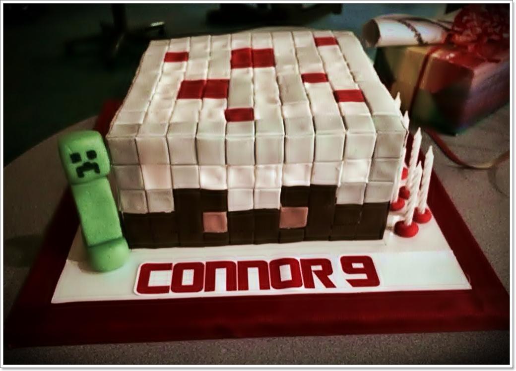 Minecraft Torte Zum 9 Geburtstag Kuchenkrumel