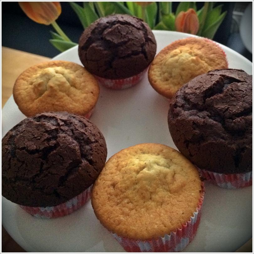 Rezeptempfehlung Basic Vanille Und Schokomuffins Kuchenkrumel